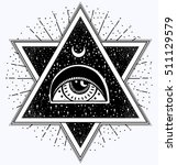 all seeing eye is on the... | Shutterstock .eps vector #511129579