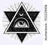 all seeing eye is on the... | Shutterstock .eps vector #511129606