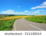 Landscape Of Countryside In...