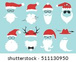 silhouette with cool beard and... | Shutterstock .eps vector #511130950