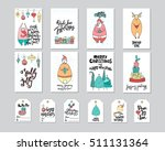 merry christmas greeting card... | Shutterstock .eps vector #511131364