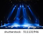 free stage with lights | Shutterstock . vector #511131946