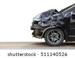 front of black car get damaged... | Shutterstock . vector #511140526