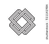geometric shape  connected... | Shutterstock .eps vector #511141984