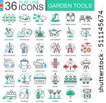 vector gardening tools modern