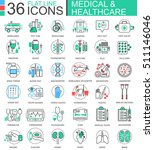 vector medical healthcare... | Shutterstock .eps vector #511146046