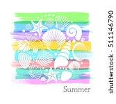 colorful vintage summer card... | Shutterstock .eps vector #511146790