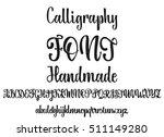 vector alphabet. calligraphic... | Shutterstock .eps vector #511149280