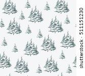 seamless vintage christmas... | Shutterstock .eps vector #511151230