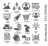business management icons. | Shutterstock .eps vector #511154560