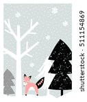 christmas greeting card design... | Shutterstock .eps vector #511154869