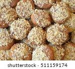 Small photo of melomakarona, traditional greek Christmas cookies