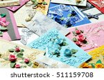 pile of decorative paper cards  ... | Shutterstock . vector #511159708