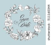 save the date card  with  a...   Shutterstock .eps vector #511160344