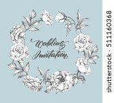 wedding invitation card  with ...   Shutterstock .eps vector #511160368