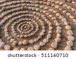 sequence of small stones laid... | Shutterstock . vector #511160710