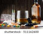 variety of addictive substances ... | Shutterstock . vector #511162600