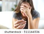 Closeup Of A Single Sad Wife...