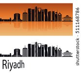 riyadh v2 skyline in orange... | Shutterstock .eps vector #511168786