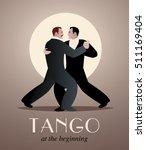 two men dancing tango. at the...