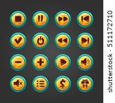 set of vector button for game... | Shutterstock . vector #511172710