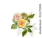 pattern of yellow roses flowers ...   Shutterstock . vector #511173334