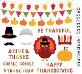 thanksgiving vector turkey ... | Shutterstock .eps vector #511175560