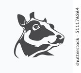 holstein cow portrait stylized... | Shutterstock .eps vector #511176364