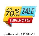 sale banner  limited offer  70  ... | Shutterstock .eps vector #511180540