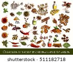a collection of vector spices... | Shutterstock .eps vector #511182718