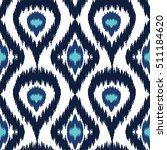 ethnic seamless blue and white...   Shutterstock .eps vector #511184620