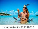 portrait of exotic fantasy... | Shutterstock . vector #511190818
