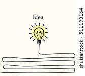 creative concept of idea  light ...   Shutterstock .eps vector #511193164