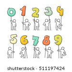 cartoon icons set of sketch... | Shutterstock .eps vector #511197424