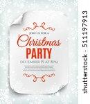 christmas party invitation... | Shutterstock .eps vector #511197913
