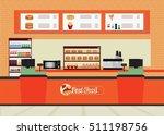 fast food restaurant interior... | Shutterstock .eps vector #511198756
