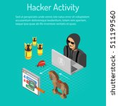 cyber crime and hacker activity ... | Shutterstock .eps vector #511199560