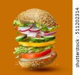 burger preparation ingredients... | Shutterstock . vector #511202314