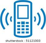 vector ringing cell phone...   Shutterstock .eps vector #51121003