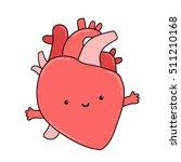 cute anatomical cartoon human... | Shutterstock .eps vector #511210168