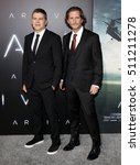 Small photo of Dan Levine and Aaron Ryder at the Los Angeles premiere of 'Arrival' held at the Regency Village Theater in Westwood, USA on November 6, 2016.