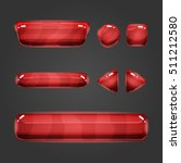 set of game interface red ...
