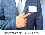 the business man showing a ... | Shutterstock . vector #511212760