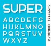 modern vector monoline font.... | Shutterstock .eps vector #511213240