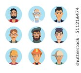 isolated professions avatar... | Shutterstock .eps vector #511216474