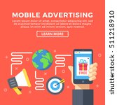 mobile advertising. modern... | Shutterstock .eps vector #511218910