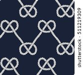 seamless nautical rope pattern. ... | Shutterstock .eps vector #511219309