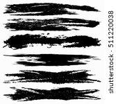 set of grunge brush strokes | Shutterstock .eps vector #511220038