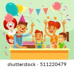 children happy birthday. family ... | Shutterstock .eps vector #511220479