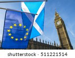 Scottish And Eu Flags Flying I...